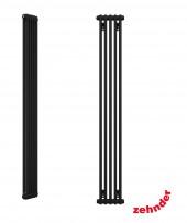 """Zehnder Z-2180/06 N12 3/4"""" чёрный вертикальный радиатор RAL 9217 matt"""