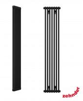 """Zehnder Z-2180-8 N12 3/4"""" чёрный вертикальный радиатор RAL 9217 matt"""