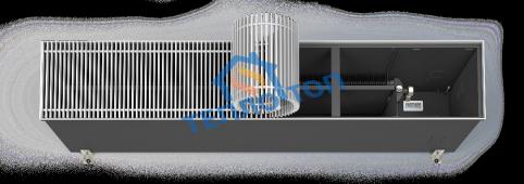 Встраиваемый в пол конвектор Varmann Ntherm Maxi ширина 180 мм, высота 300 мм, длина 800 мм, решетка роликовая алюминий