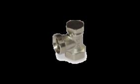 Вентиль запорный DN15, 1/2'', угловой (701312)